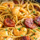 Shrimp Chorizo Pasta (10 minute dinner) | Sprinkles and Sprouts