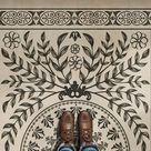 Vintage Vinyl Floorcloth Mats (Pattern 40 Drummond Castle)