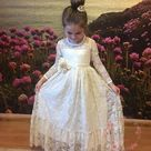 Girls dress dress Lace girls dress bohemian maxi dress   Etsy