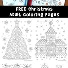 Beautiful Printable Christmas Adult Coloring Pages   Woo Jr. Kids Activities
