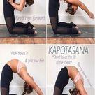 Kapotasana yoga pose