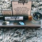 Zodiac sign gift sets, crystal, attraction oil, herbal tea, spell candle
