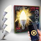 WiFi LED Leuchtmittel E14 5,5W   4er Set