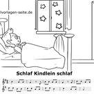 Schlaf Kindlein schlaf - Noten und Text zum Ausdrucken