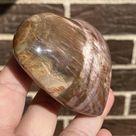 3 Inch Petrified Wood Puffy Heart, Polished Stone Heart Gift