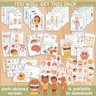 Human Anatomy Busy Book Printable Preschool Worksheets | Etsy