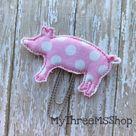 Pig Feltie Planner Paperclip Bookmark, Piggy Fabric Applique Planner Accessorie, Bible Journaling Su