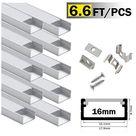 16mm LED Aluminum Channel - 10*6.6ft(2M)