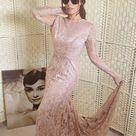 Rent Vintage 1940's Rose Gold Lace Wedding Dress Rental   Size 8