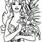 9 Pics Of Hawaii Girl Coloring Pages - Hawaiian Hula Girl Coloring ... - Coloring Home Pages