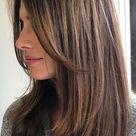 Cute Medium Length Haircuts & Hairstyles : Layered with curtain bang