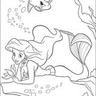Ariel Is dreaming coloring page   Free Printable Coloring Pages