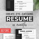 Professional resume, CV, Cover letter, WORD Resume, Editable Resume, resume, Ats resume+ cover letter, instant Download, Editable in WORD