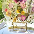 Preserved Funeral Wedding Pressed Flowers Petals in Resin Round Free form Lamp Keepsake Sweet memories of your wedding funeral Frame  Lights