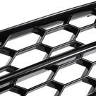 Plating Front Fog Light Cover Honeycomb Hex Grille Grill For Audi A4 B8 S Line S4 2008 2012