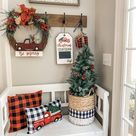 Christmas truck decor in my entry way