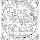 21 Printable Motivational Coloring Pages for Kids