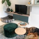 Wit wonen met kleur - woonkamer - kleed - ikea hack