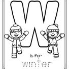 W is for Winter Trace and Color