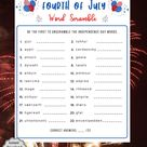 Fourth of July Word Scramble Game   Independence Day  Games   4th of July Family Trivia Quiz   Patriotic Game l Zoom l American Trivia Games