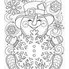 Kleurplaat Een vrolijke sneeuwpop