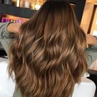 Warm Brown hair with highlights
