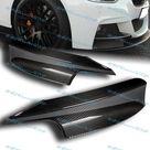 2PCS Real Carbon Fiber For 2012 2013 2014 2015 2016 2017 2018 BMW 3 Series F30 320i 328i 325i M Sport Front Bumper Splitter Spoiler Lip