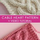 How to Knit a Cable Heart | Free Knitting Pattern + Video