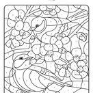 Coloriage magique, les oiseaux