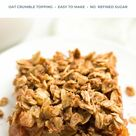 The BEST EVER Healthy Apple Crisp Recipe — easy & clean eating with oat crumble topping!