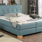 Home Affaire Boxspringbett »Merino«, blau