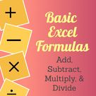 Basic Excel Formulas: Add, Subtract, Multiply, & Divide | Always a Trainer