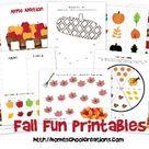 Fall Fun Learning Printables
