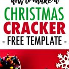 How to Make a Christmas Cracker | FREE Printable Template and Tutorial for a DIY Christmas Cracker with a Coloring Page Twist!
