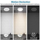 Motion Sensor Ceiling Light Battery Operated, Wireless Motion Sensing Activated LED Closet Light Warm White Indoor for Stairs, Hallway, Garage, Bathroom, Cabinet (Bright White, 2 Pack)