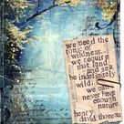 Day 8  paper print  Henry David Thoreau nature quote 30x30 | Etsy