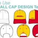 Fashion Flat Design Tutorial - How to Use BASEBALL CAP DESIGN template (feat. DHL)