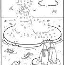 Ausmalbild Malen nach Zahlen: Walross kostenlos ausdrucken