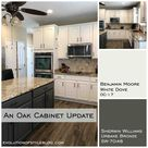 White Dove and Urbane Bronze Painted Cabinets - Evolution of Style