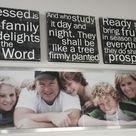 Family verse over family photo!  Red Letter Words~Faith Inspired Art