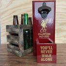 Liverpool FC Hanging Bottle Opener, Liverpool fan gift idea, Soccer man cave gift idea,