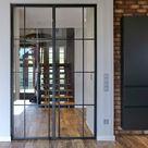 die Filigrane Doppelflügel Tür im Industrie Look