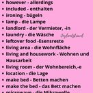 Wohnen Deutsch Wortschatz