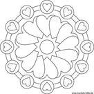 Mandala von Herzen – gratis Ausmalbild