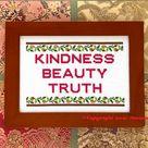 Einstein Cross Stitch Pattern Kindness Beauty Truth STEM PDF | Etsy