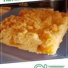 Saftiger Streuselkuchen mit Pfirsich