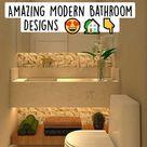 Amazing Modern Bathroom Designs 😍🏡👇