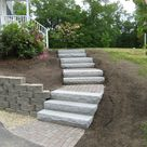 Walkway, Retaining Wall, Granite Steps and Brick Headwall – Kingston, NH