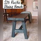 Build a  $25 Rustic  Dining Bench