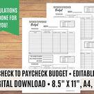 Paycheck to Paycheck Budget Zero Based Budget Spreadsheet   Etsy